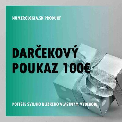 Darčekový poukaz 100 eur