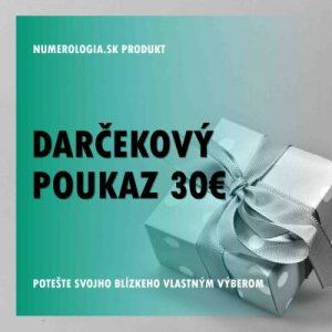 Darčekový poukaz v hodnote 30 eur