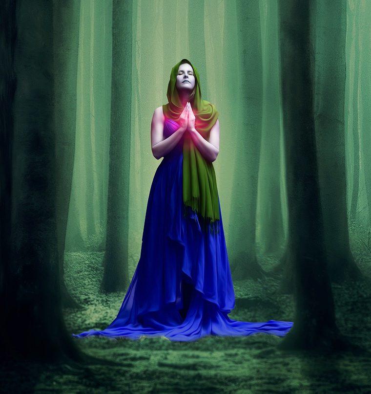 sama čarodejnica v lese