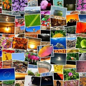 zbierka motívov pohľadníc a fotiek